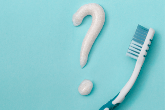 toothpaste question mark